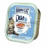 Happy Cat Duo Pástétomos Falatkák Marha, Tőkehal - 12x100g