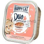 Happy Cat Duo Pástétomos Falatkák Baromfi, Lazac - 12x100g