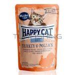 Happy Cat All Meat Adult Alutasakos Pulyka, Tőkehal - 24x85g