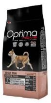 Visán Optimanova Dog Adult Mini - lazac, burgonya - 0,8-2-8kg