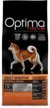 Visán Optimanova Dog Adult Sensitive - lazac, burgonya - 0,8-2-12kg