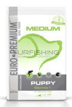Euro Premium Medium Puppy Derma+ - lazac, burgonya - 2,5-10kg